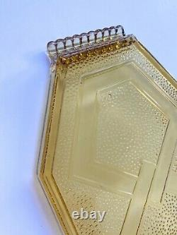 Vintage Art Deco Moulded Glass Tray