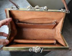 Vintage Art Deco Style Leather Handbag