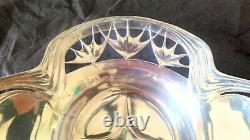 Vintage Art Nouveau 1900 Recycle Bin Made Of Silver Metal Decor Floral
