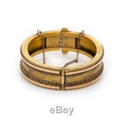 Vintage Art Nouveau Antique 14k Gold Filled Gf Etruscan Wedding Bracelet