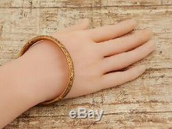 Vintage Art Nouveau Antique 14k Gold Filled Gf Hinges Wedding Bracelet