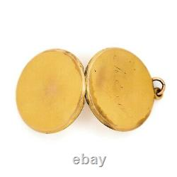 Vintage Art Nouveau Antique 14k Gold Filled Gf Wightman & Hough Pendant Necklace