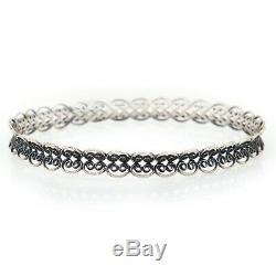 Vintage Art Nouveau Antique 925 Sterling Silver Filigree Bracelet Wedding
