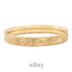 Vintage Art Nouveau Antique Leaded 14k Gold Bracelet Gf Wedding Flowers