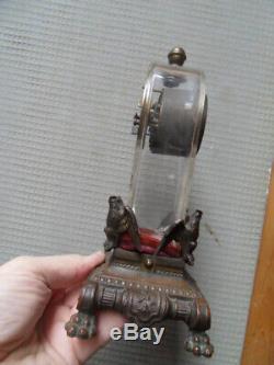 Vintage Art Nouveau Clock Uhr Pendulum Clock Clock Travel Junghans