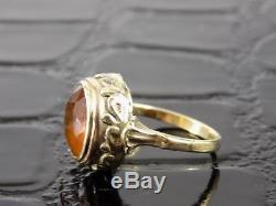 Vintage Art Nouveau Female Gold 14 Carat Gemstone Jewelry Old 20. Jhd