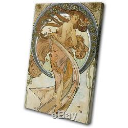 Vintage Art Nouveau Poster Single Canvas Mural Art Photo Print