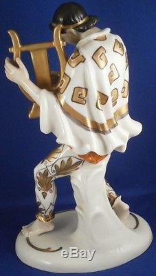 Vintage Art Nouveau Schwarzburger Werkstatten Porcelain Lady Figurine Figurine