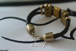Vintage Bracelet Cuff Leather Art Nouveau Vestale Orient Bohemian Rock Bangle