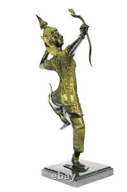 Vintage Bronze Hindu Dancer Goddess Religious Statue 10 Rama Art Gift