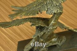 Vintage Collection Hand Bronze VIVID Eagle Statue Original Art Deco Decor