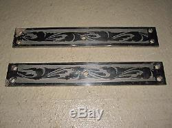 Vintage Decorative Art Grand Steel Door Support Rectangle Pair Interior Decorate