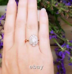 Vintage Engagement Ring Art Deco Ring Engagement Ring Diamond 10kt Or White