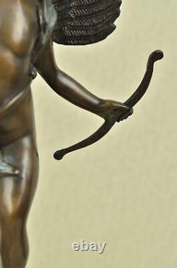 Vintage Figurative Art Nouveau Bronze Cherub Cupid Statue Sculpture 24