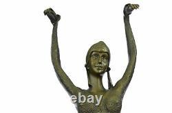 Vintage Grand Art Deco Dancer Dimitri Chiparus Bronze Sculpture Signed Figure