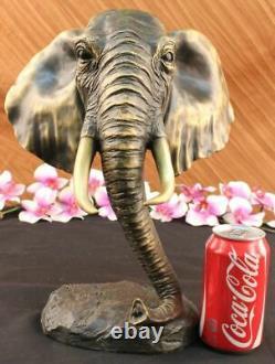 Vintage Grand Bronze Elephant Sculpture By A. Barye Beau Piece Figure Art