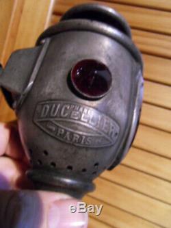 Vintage Lamp Lantern Lamp Headlight Car Ducellier Cab Caleche Xix. Twentieth
