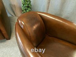 Vintage Leather Bar (pair) Armchairs