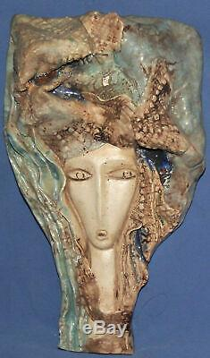 Vintage Made By Hand Ceramic Wall Hanging Work Of Art Sculpture