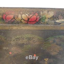 Vintage Peacock Art Nouveau Art-deco Antique Serving Tray