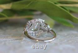 Vintage Ring Style Art Deco Ring Style 925 Silver, Moissanit