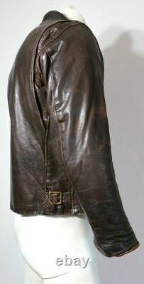Vintage Schott 1970's Man Solid Café Racer Moto Jacket True Skin