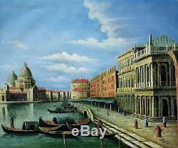 Vintage Venice 51 X 61cm Stretched Canvas Oil Painting Art Wall Decoration 002