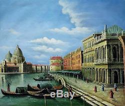 Vintage Venice 51 X 61cm Stretched Canvas Oil Painting Art Wall Decoration 004