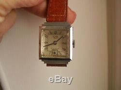 Vintage Watch Huma 40s Art Deco Curvex New Stock