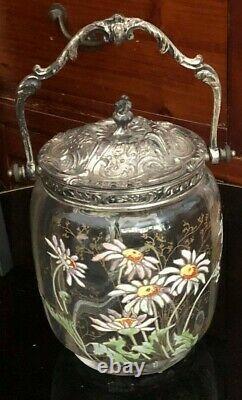 Vinting Rare Ancien Art New Biscuits Decor Floral (legras Daum Gallé)