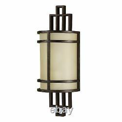 Wall Applique Shoji Bronze Cream Glass Vintage Metal Staircase Lamp Salon