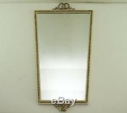 Wall Mirror Style Art Nouveau Metal Frame Brass Lanyard Mirror Vintage