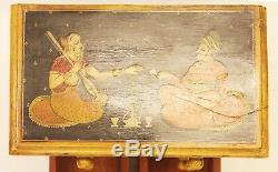 Wardrobe Box Hand Painted Wood Home Decor Art Vintage Collection Us7