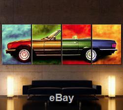 XXL Pop Art Canvas W107 Mercedes Sl Photo Vintage 280 300 380 450 500 107 R