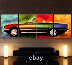XXL Pop Art Mercedes Sl W107 Canvas Image Vintage 280 380 300 420 450 500 R 107
