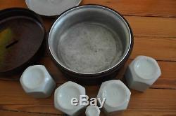 Yogurt Bakelite Yalacta 4 Complete Original Yoghurt Maker Vintage Retro 1930