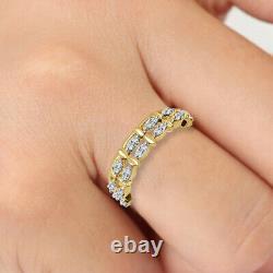 0.38 CT Diamant Rond 10k or Jaune Vintage Art Déco Mariage Bande