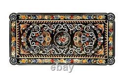 122x244cm Rectangle Forme Table Salle à Manger Haut Art Vintage Inlaid Bureau