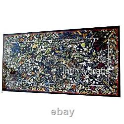 122x244cm Rectangle Marbre Café Table Haut Art Vintage Inlaid Cuisine Table