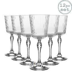 12x Amérique années 20 Cocktail Lunettes Vintage Art Déco cocktail Verre 250ml