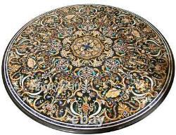 183cm Couloir Table Haut Marbre Dîner Avec Art Vintage Inlaid
