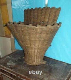 1 Old basket picker basket vintage grape grower vine burgundy Bordeaux France