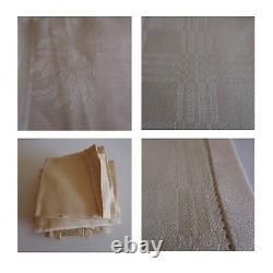 1 nappe 12 serviettes de table art déco nouveau design XXe vintage France N3536