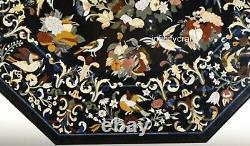213x213cm Noir Table Salle à Manger Haut Marbre Conférence Avec Art Vintage