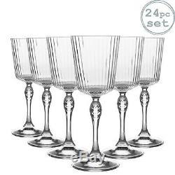 24x Amérique années 20 Cocktail Lunettes Vintage Art Déco cocktail Verre 250ml