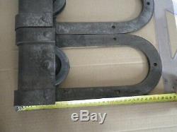 2 ancienne roulettes de porte coulissante usine industriel loft déco vintage