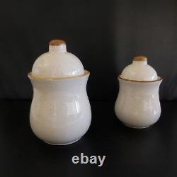 2 pots de cuisine sel café épis de blé art nouveau art-déco vintage France