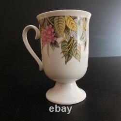 2 tasses muges café céramique porcelaine vintage déco art nouveau Corée N4212