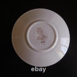 3 soucoupes faïence opaque vintage art nouveau DIGOIN Sarreguemines France N6943