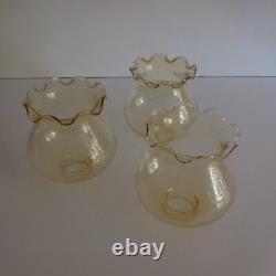 3 tulipes verre lampe lustre éclairage vintage art nouveau déco design XX France